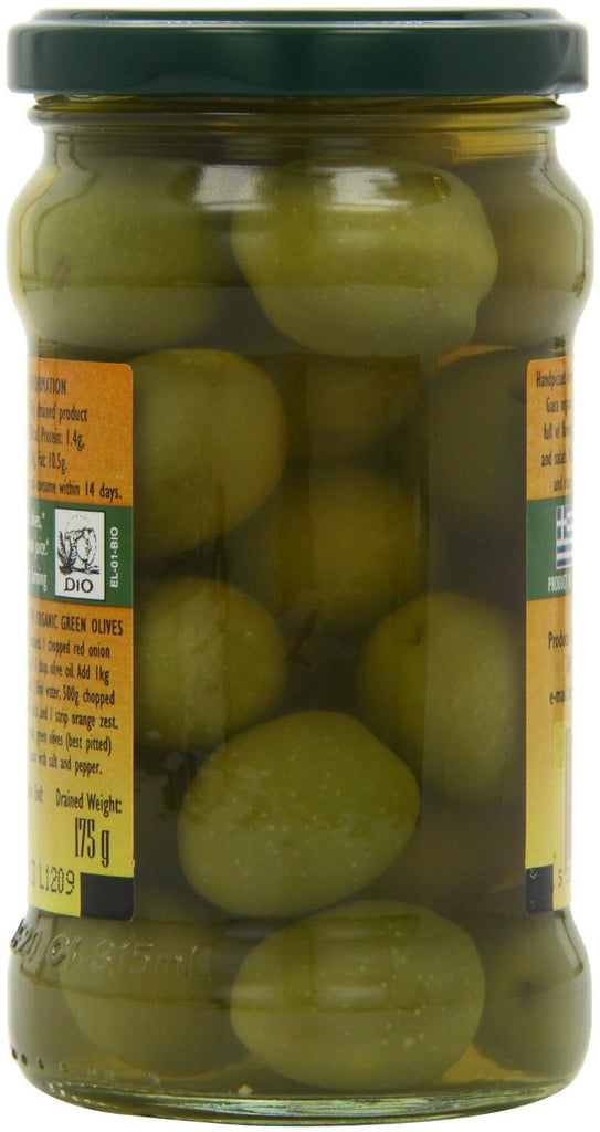 Gaea Organic Olympian Green Olives 300 g (Pack of 4) - Organically grown and pro - SustainTheFuture - 4