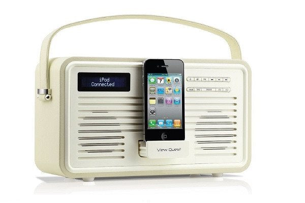 VQ (Formerly View Quest) Retro Style ColourGen DAB/DAB+ FM Radio Speaker with Ch - SustainTheFuture - 1