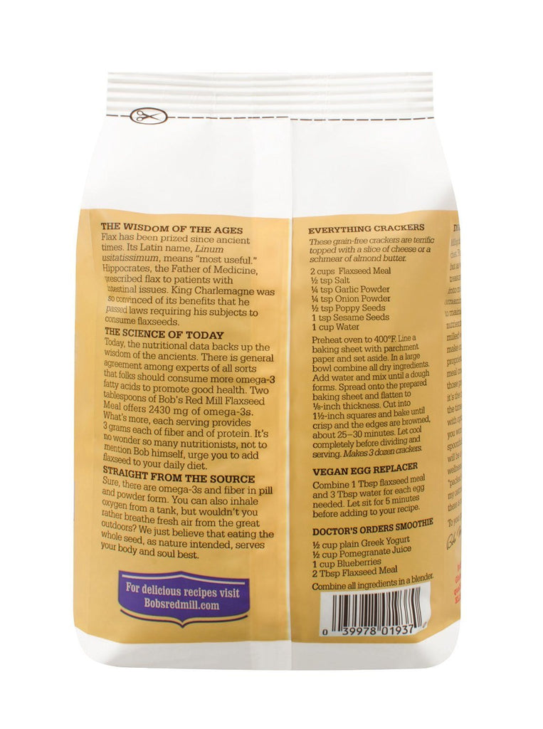 Bobs Organic Whole Ground Flaxseed Meal 907g - Provides Fiber, Lignans & Omega-3 - SustainTheFuture - 3