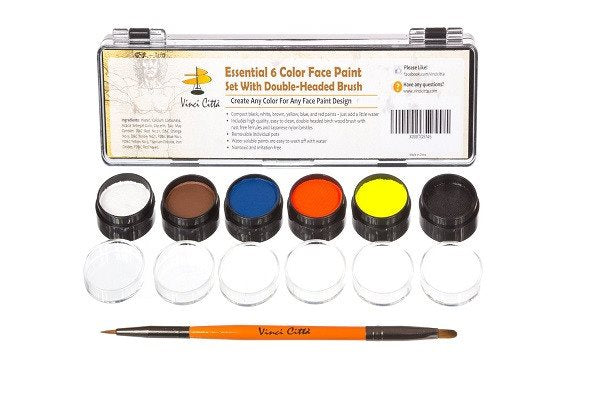 Face Painting Kit - Nontoxic And Irritation-Free - Paint Flags, Superheroes, Ani - SustainTheFuture - 1