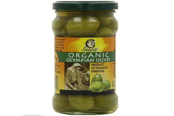 Gaea Organic Olympian Green Olives 300 g (Pack of 4) - Organically grown and pro - SustainTheFuture - 1