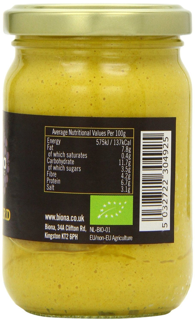 Biona Organic Dijon Mustard 200 g (Pack of 6) - Suitable for vegans, Contains certified organic and - SustainTheFuture - 2