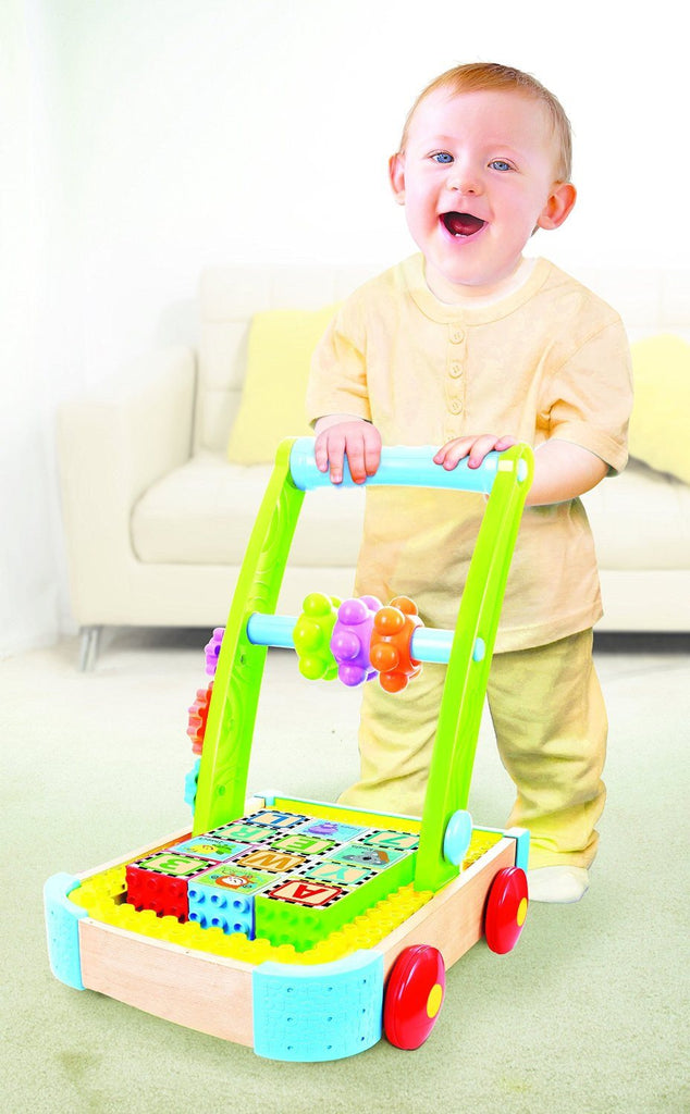 Bkids Soft and Safe Busy Builder Wagon. Compatible with all major block brands - SustainTheFuture - 3