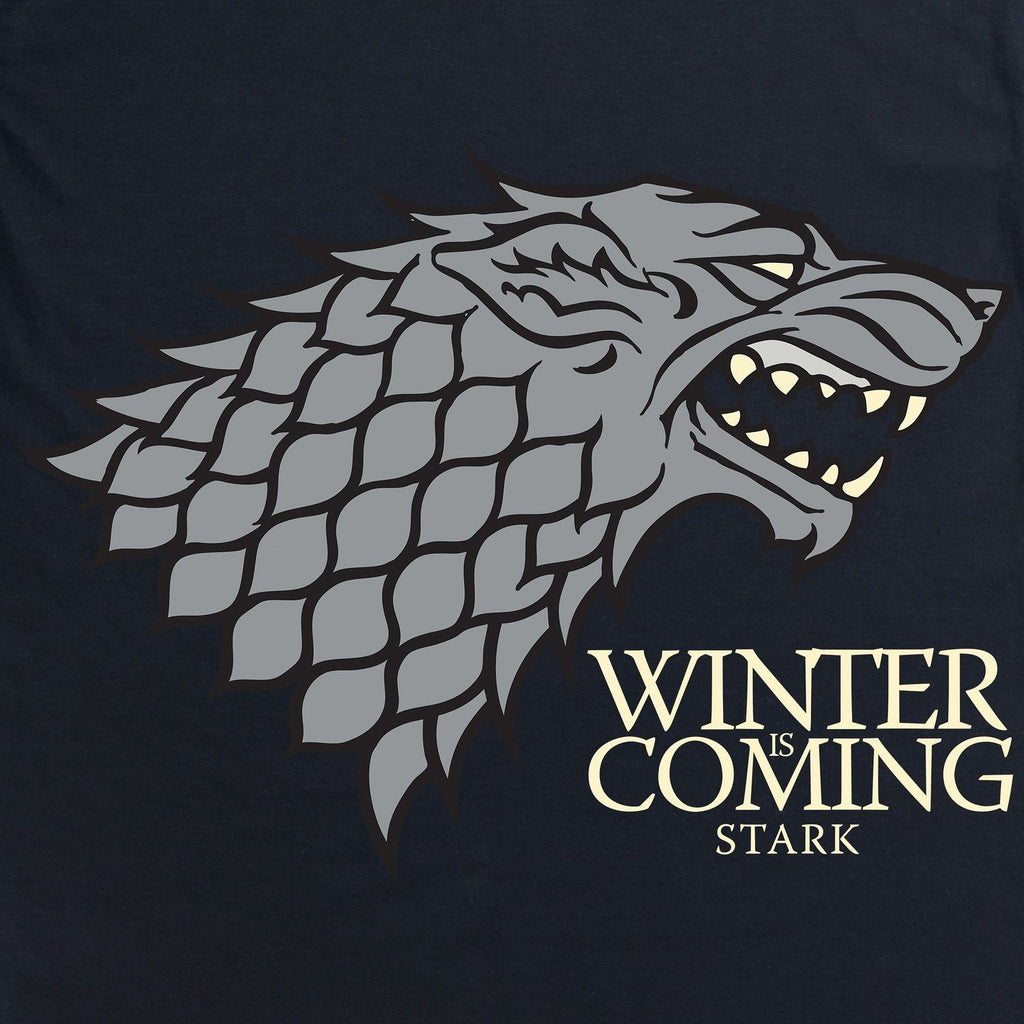 Official Game of Thrones- Winter is Coming Dark Organic T Shirt, Ladies - SustainTheFuture - 3