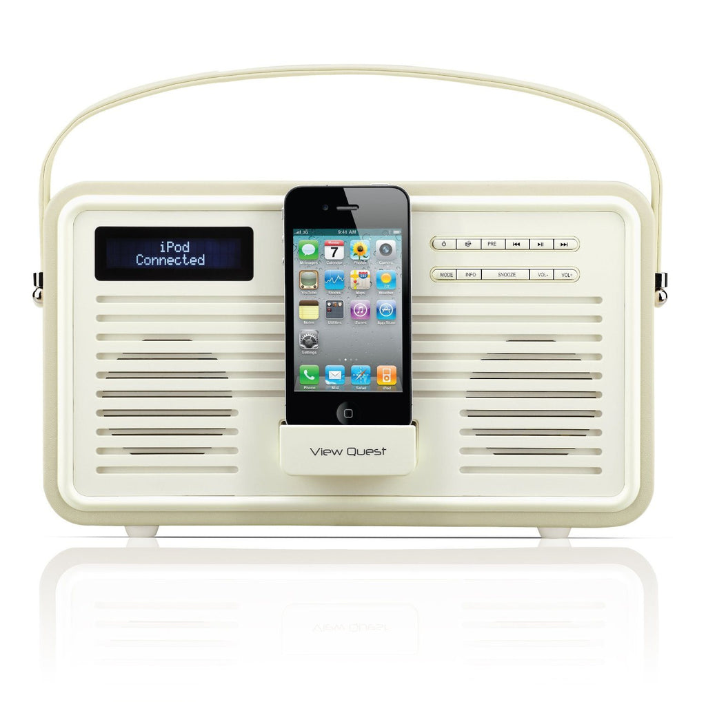 VQ (Formerly View Quest) Retro Style ColourGen DAB/DAB+ FM Radio Speaker with Ch - SustainTheFuture - 5