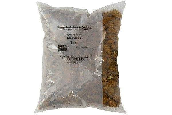 Buy Whole Foods Organic Almonds 1 Kg - Certified Organic,  Can be enjoyed as a s - SustainTheFuture - 1
