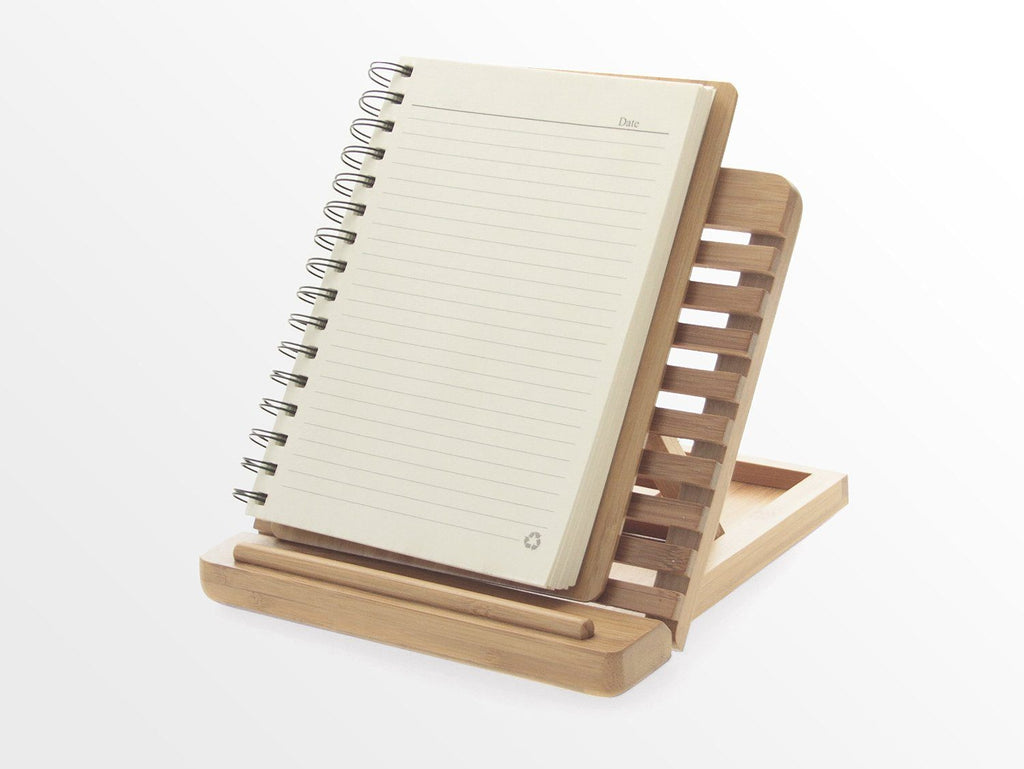 Adjustable iPAD Holder / Stand Desktop Organiser. Made of Eco-friendly Natural S - SustainTheFuture - 4