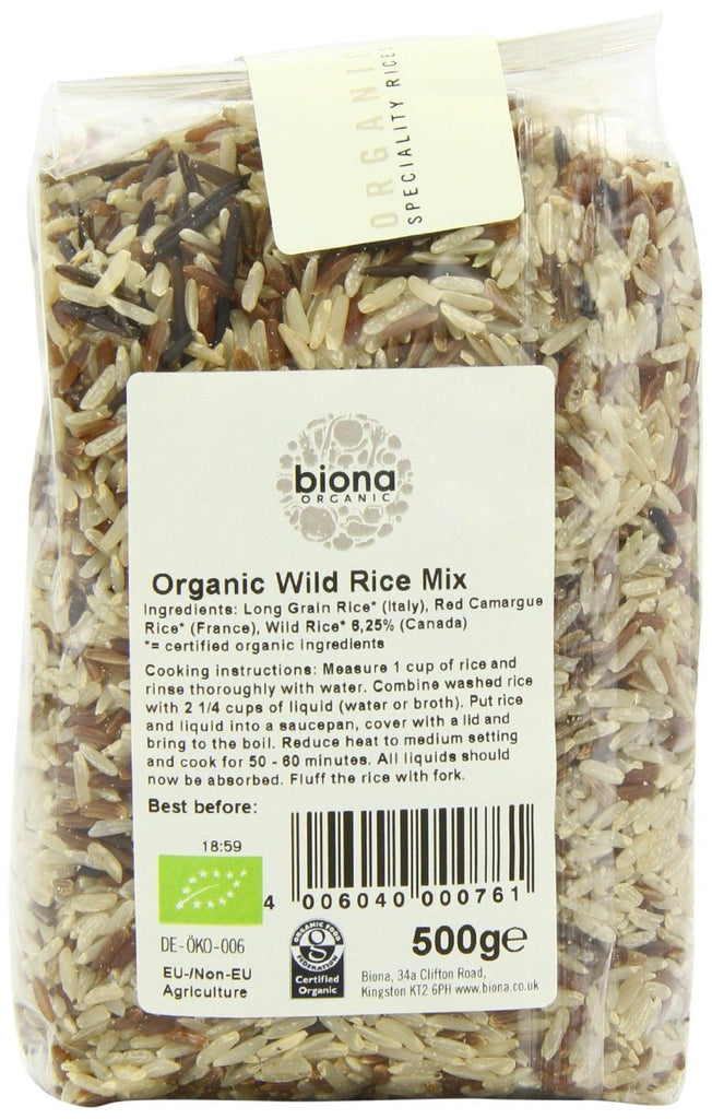 Biona Organic Wild Rice Mix 500 g (Pack of 3) - mix of exotic rices,  Gm free - SustainTheFuture - 3