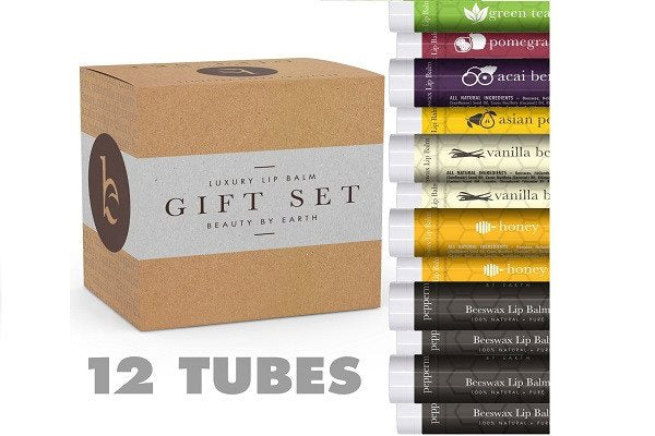 Lip Balm Gift Set - Pack of 12 Tubes of Beauty by Earth's Best Selling Beeswax L - SustainTheFuture - 10