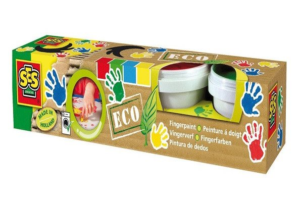 Ses 24926 4 Pots of Eco Finger Paints. Pack of 4 pots of ECO finger paints - SustainTheFuture - 1