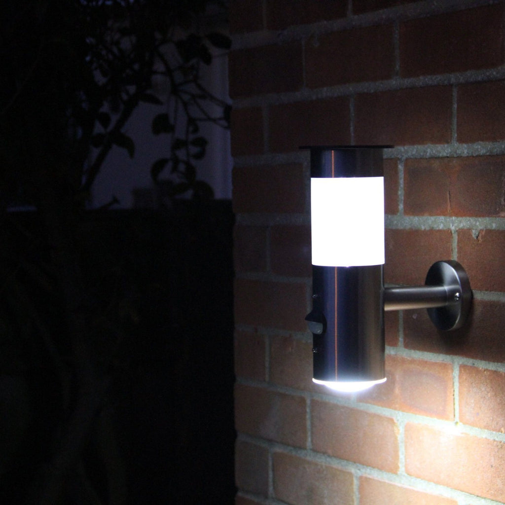 Frostfire Solar Wall Light with PIR Motion Sensor - Solar stainless steel wall l - SustainTheFuture - 6