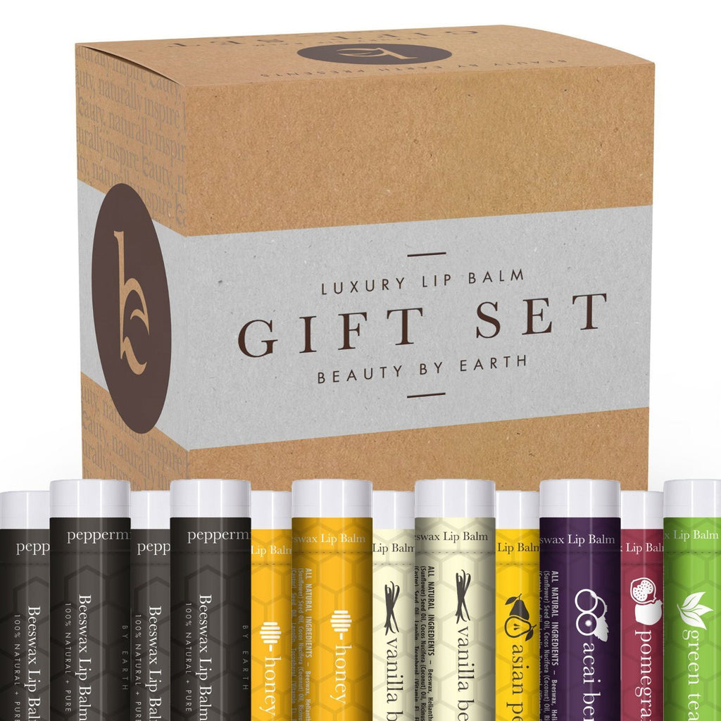 Lip Balm Gift Set - Pack of 12 Tubes of Beauty by Earth's Best Selling Beeswax L - SustainTheFuture - 4