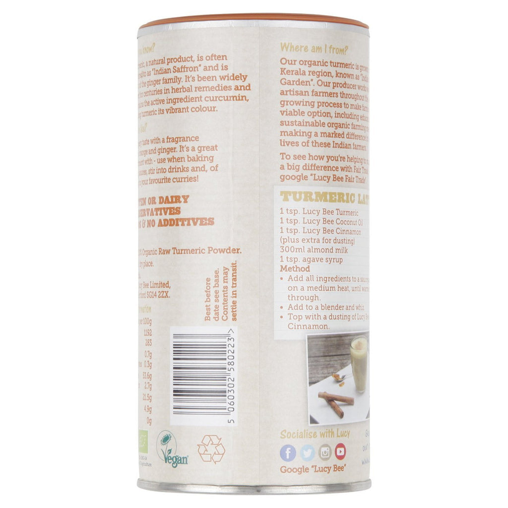 Lucy Bee Fair Trade Organic Raw Turmeric Powder 250 g - GMOs, preservatives and - SustainTheFuture - 2