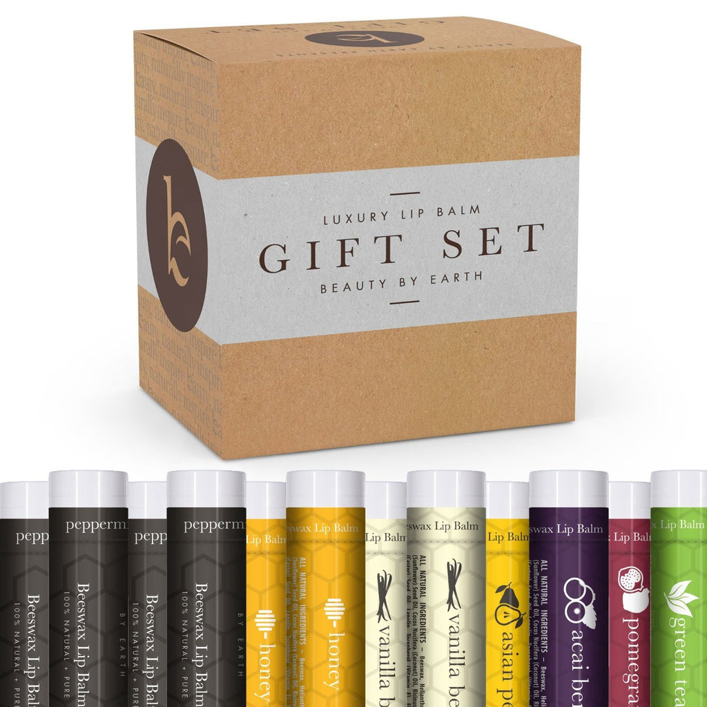 Lip Balm Gift Set - Pack of 12 Tubes of Beauty by Earth's Best Selling Beeswax L - SustainTheFuture - 2