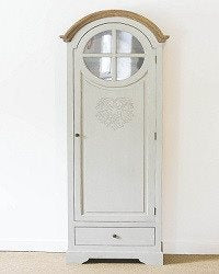 French Style Tall Heart Freestanding Cupboard with intricate heart motif and ins - SustainTheFuture - 6