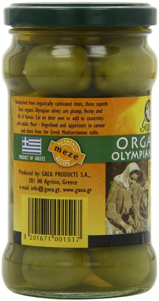 Gaea Organic Olympian Green Olives 300 g (Pack of 4) - Organically grown and pro - SustainTheFuture - 6