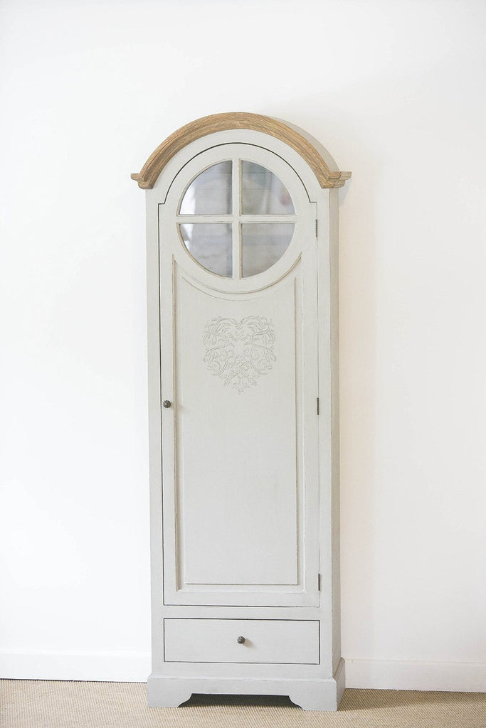 French Style Tall Heart Freestanding Cupboard with intricate heart motif and ins - SustainTheFuture - 3