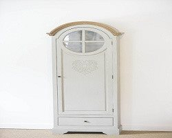 French Style Tall Heart Freestanding Cupboard with intricate heart motif and ins - SustainTheFuture - 2