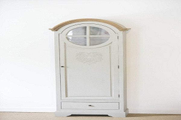 French Style Tall Heart Freestanding Cupboard with intricate heart motif and ins - SustainTheFuture - 1