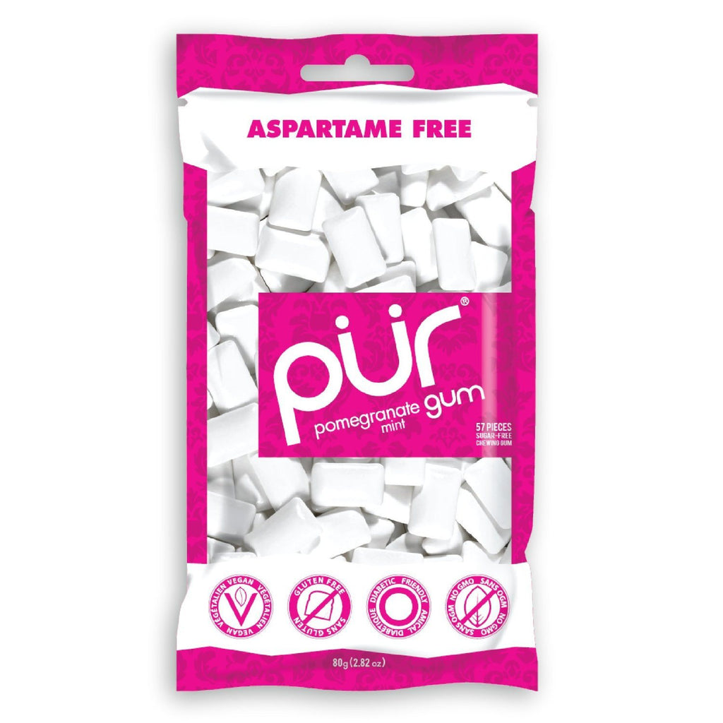 PÜR Gum Cinnamon Bag 57 Piece, aspartame-free, 100% GMO-free, is sweetened with Xylitol, a naturally-occurring sugar alcohol found in corn cobs and stalks - SustainTheFuture - 6