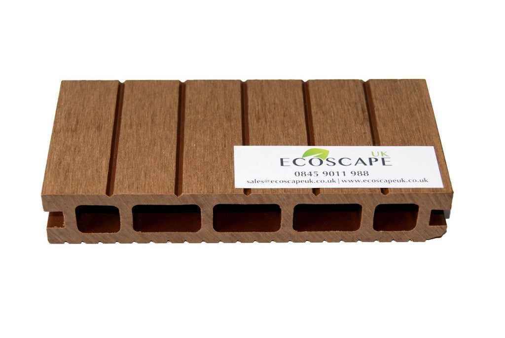 Ecoscape UK Composite Decking Autumn 2.9m Length. Low maintenance; No need to pa - SustainTheFuture - 3