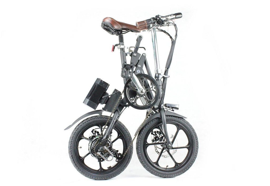 KwikFold Xite City Folding Electric Bike (Black). With a special design allowing for easy carry - SustainTheFuture - 3