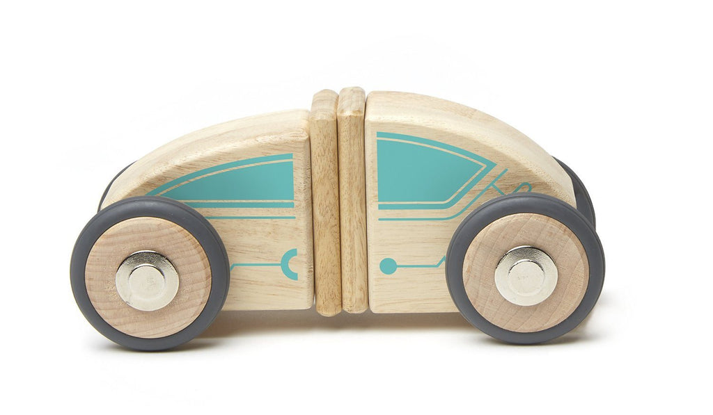 Tegu Circuit Racer Magnetic Wooden Block Set with Tegu's FUTURE sets - SustainTheFuture - 2