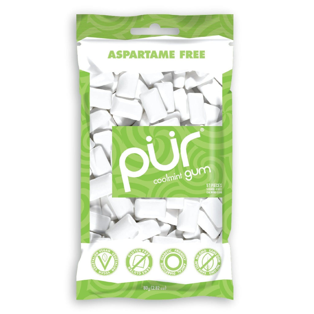 PÜR Gum Cinnamon Bag 57 Piece, aspartame-free, 100% GMO-free, is sweetened with Xylitol, a naturally-occurring sugar alcohol found in corn cobs and stalks - SustainTheFuture - 5