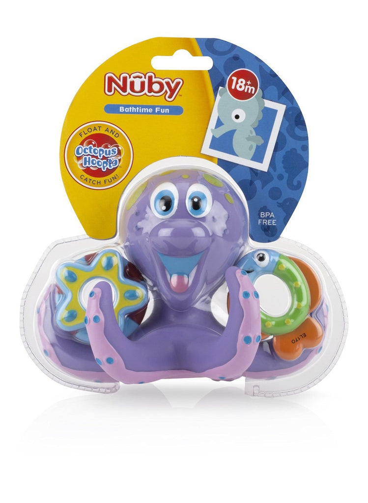Nuby Octopus Floating Bath Toy (Multi-Coloured) Encourages counting - SustainTheFuture - 7