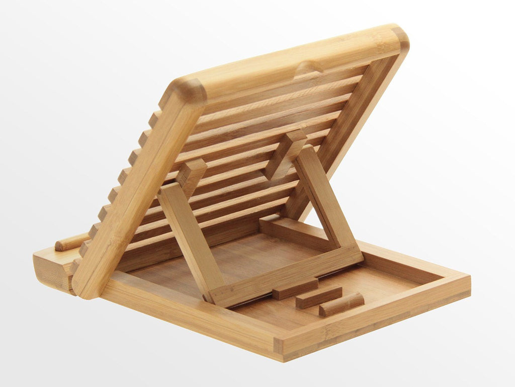 Adjustable iPAD Holder / Stand Desktop Organiser. Made of Eco-friendly Natural S - SustainTheFuture - 6