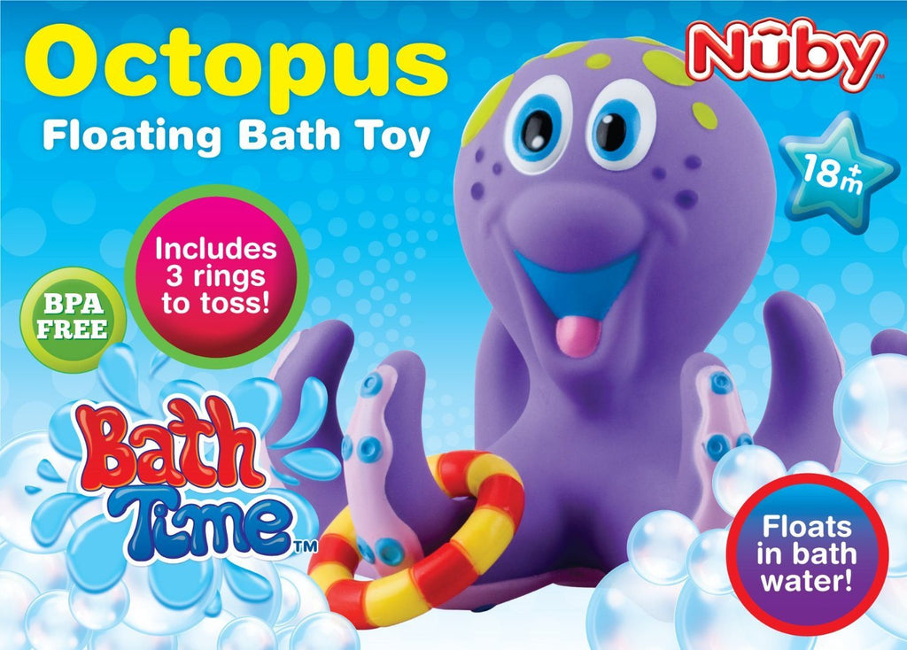 Nuby Octopus Floating Bath Toy (Multi-Coloured) Encourages counting - SustainTheFuture - 9