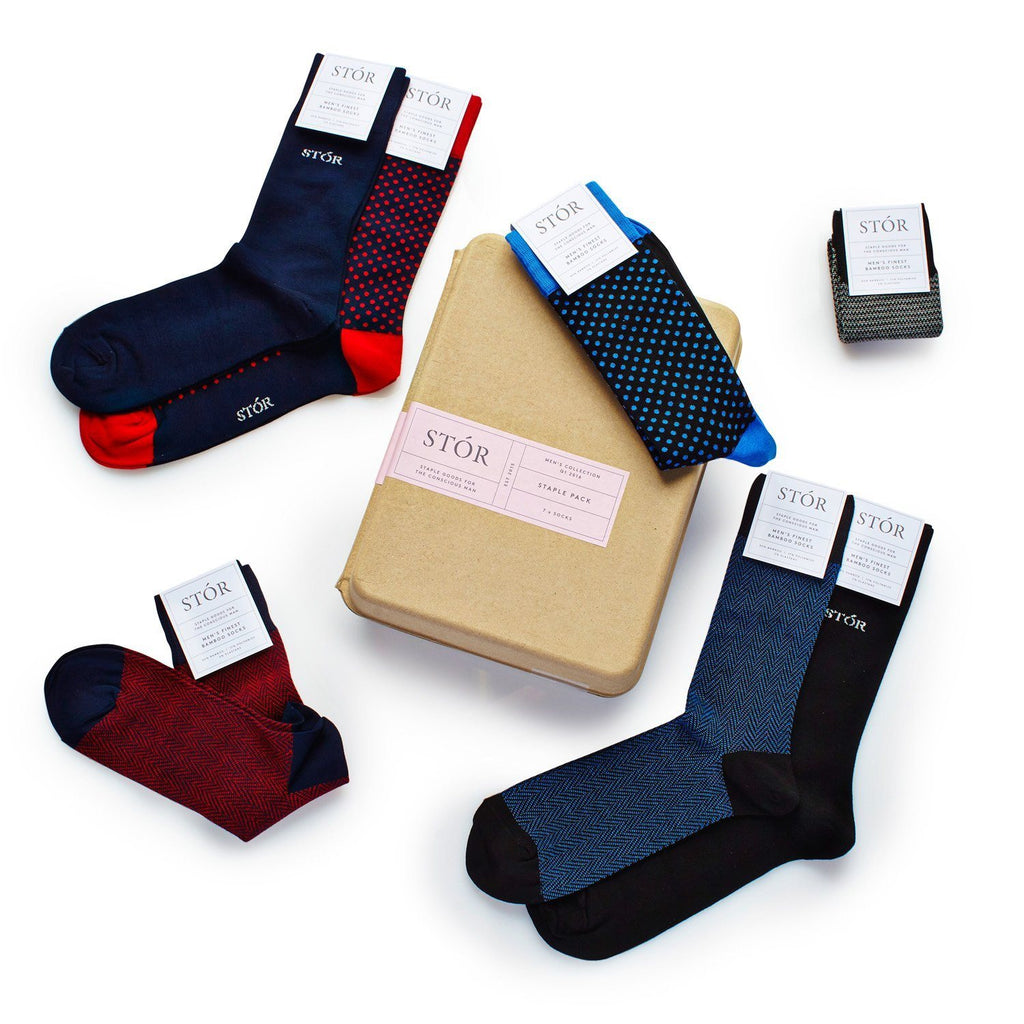 STÓR Men's Socks (7 Pack) Bamboo Designer - SustainTheFuture - 4