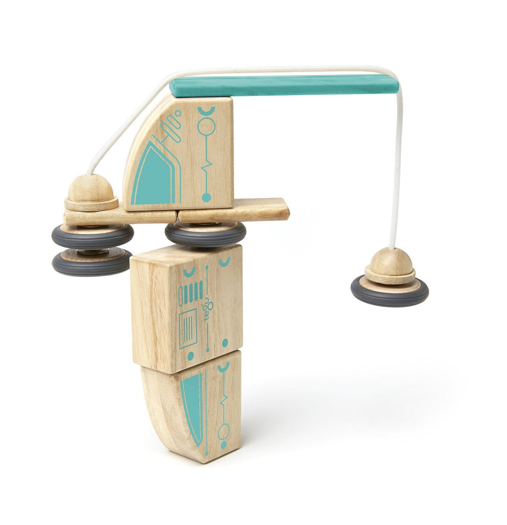 Tegu Circuit Racer Magnetic Wooden Block Set with Tegu's FUTURE sets - SustainTheFuture - 8