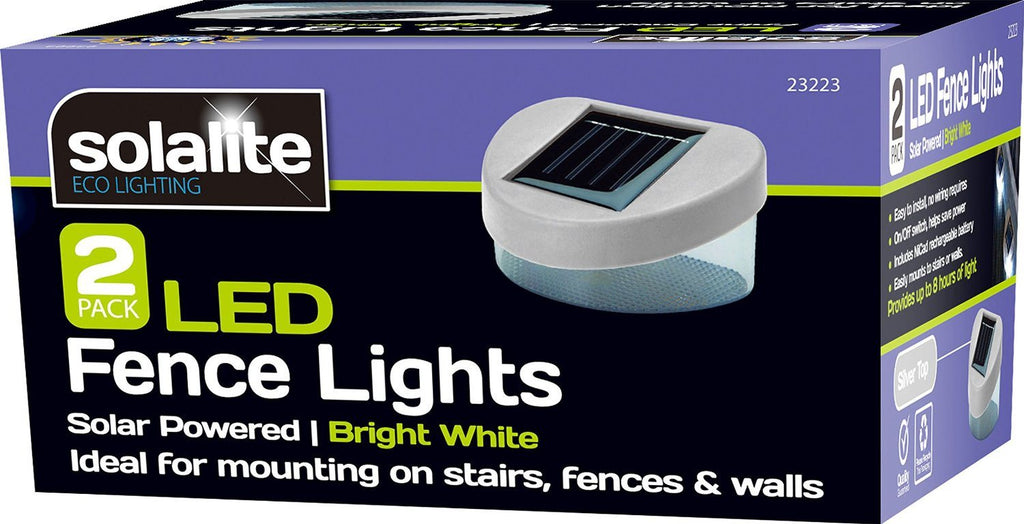 6 x SOLAR POWERED DOOR / FENCE / WALL LIGHTS LED OUTDOOR GARDEN LIGHTING - SustainTheFuture - 2