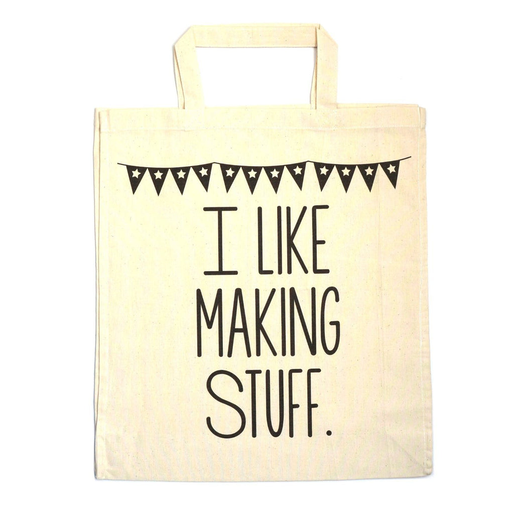 I Like Making Stuff Gift Set - Craft Project Tote Bag & Recycled Notebook - SustainTheFuture - 2