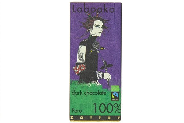 Zotter Organic 100 Percent Peru Dark Chocolate 2 x 32.5 g (Pack of 5) - 100 perc - SustainTheFuture - 1