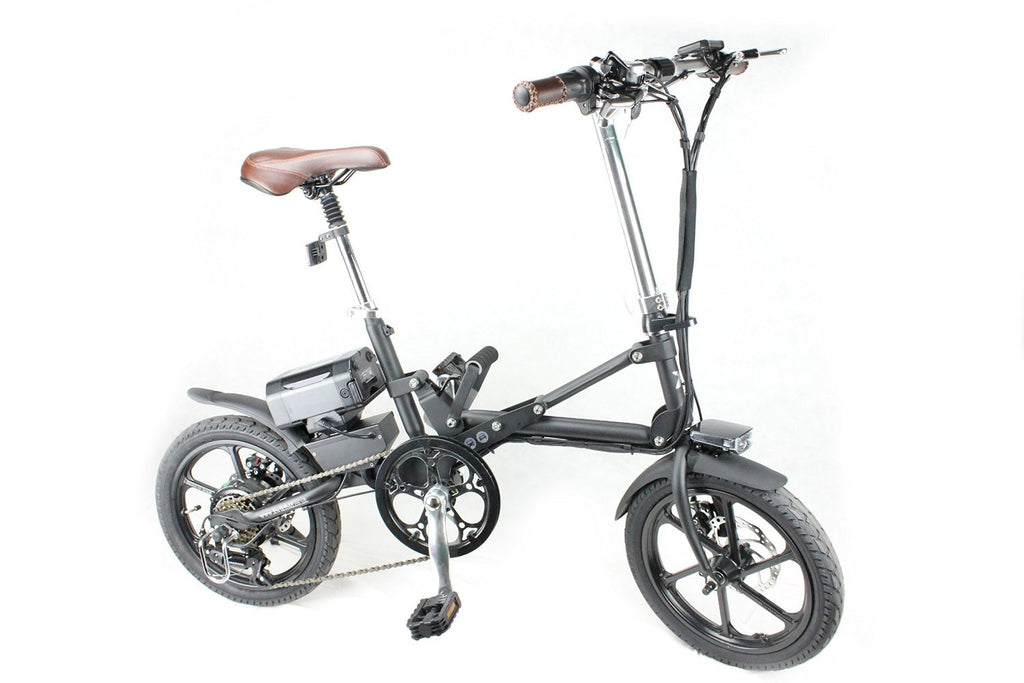 KwikFold Xite City Folding Electric Bike (Black). With a special design allowing for easy carry - SustainTheFuture - 4