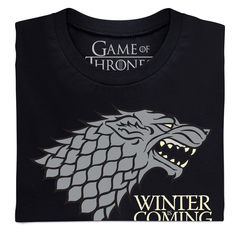 Official Game of Thrones- Winter is Coming Dark Organic T Shirt, Ladies - SustainTheFuture - 2
