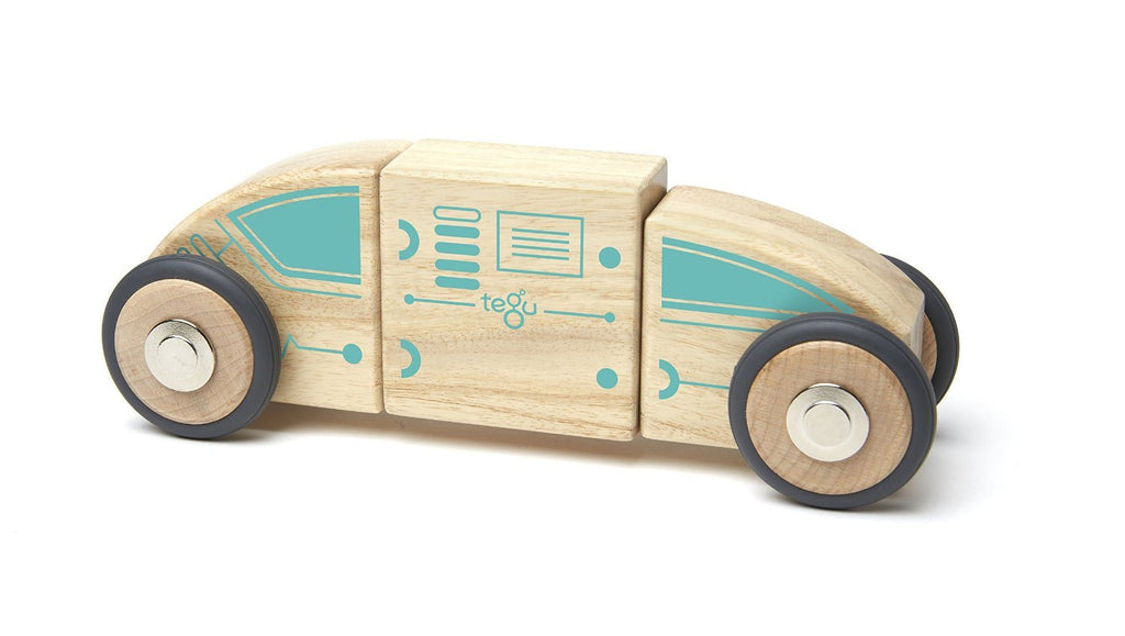 Tegu Circuit Racer Magnetic Wooden Block Set with Tegu's FUTURE sets - SustainTheFuture - 9