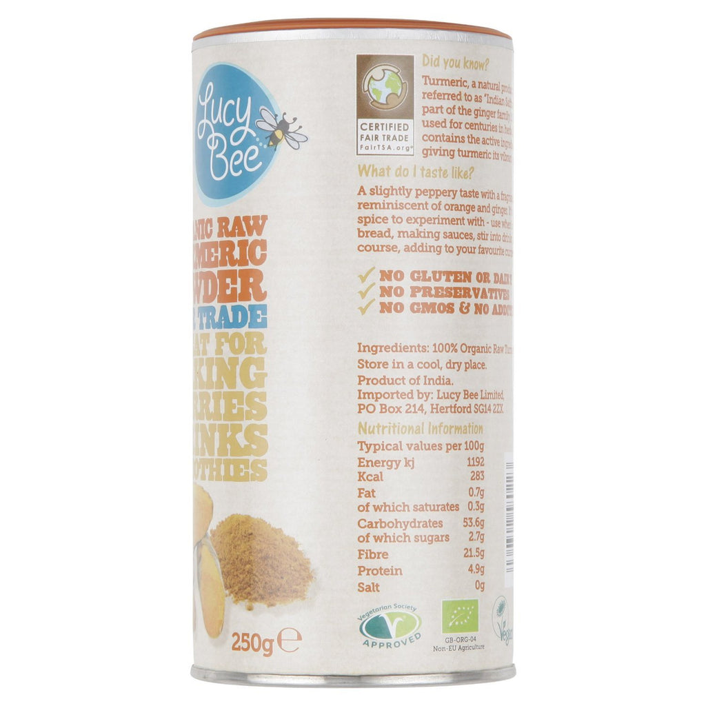 Lucy Bee Fair Trade Organic Raw Turmeric Powder 250 g - GMOs, preservatives and - SustainTheFuture - 4