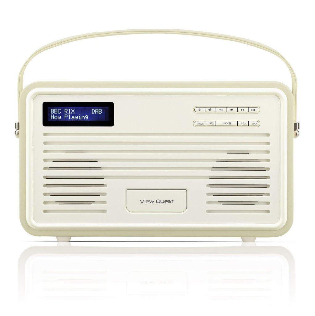 VQ (Formerly View Quest) Retro Style ColourGen DAB/DAB+ FM Radio Speaker with Ch - SustainTheFuture - 9
