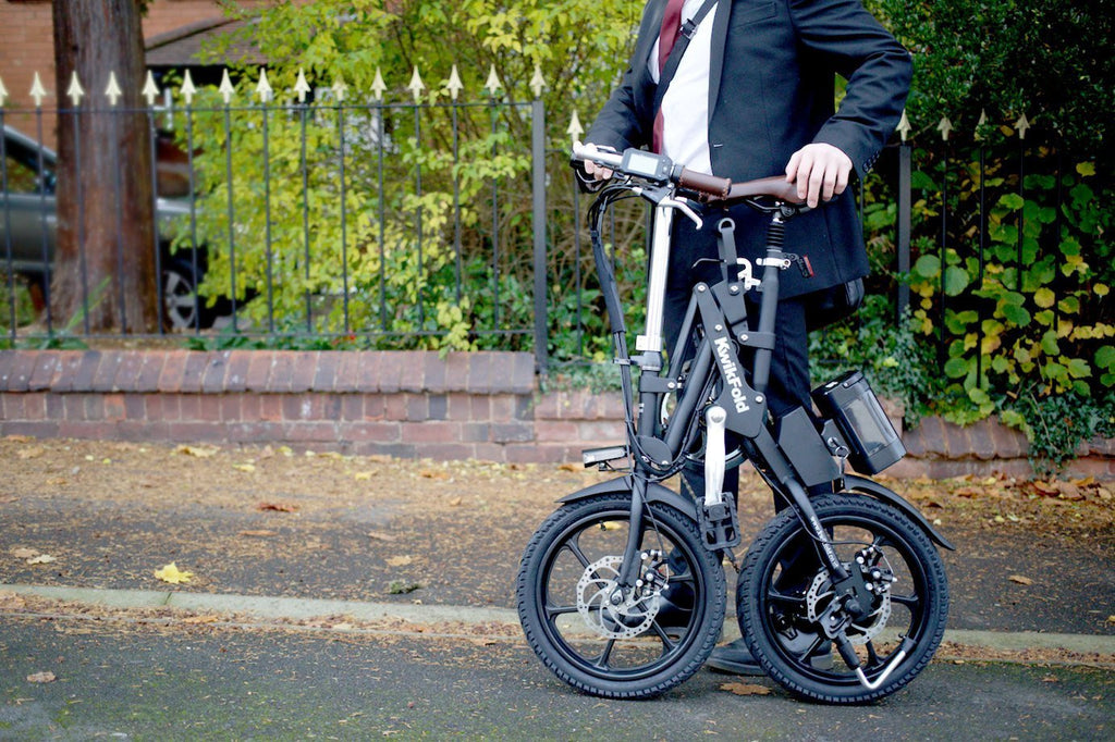 KwikFold Xite City Folding Electric Bike (Black). With a special design allowing for easy carry - SustainTheFuture - 6
