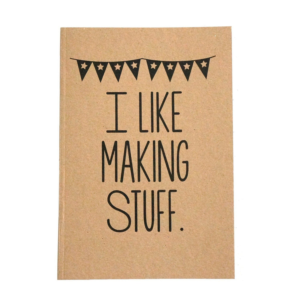 I Like Making Stuff Gift Set - Craft Project Tote Bag & Recycled Notebook - SustainTheFuture - 6