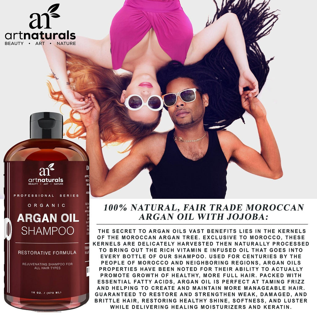 Art Naturals Organic Daily Argan Oil Shampoo 473ml - Best Moisturizing, Volumizi - SustainTheFuture - 4