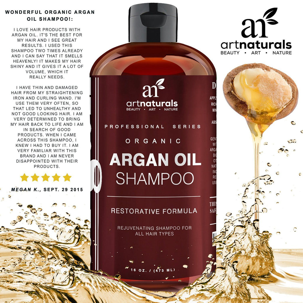 Art Naturals Organic Daily Argan Oil Shampoo 473ml - Best Moisturizing, Volumizi - SustainTheFuture - 5