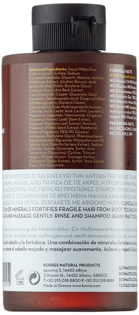 KORRES Magnesium and Wheat Proteins Shampoo 250 ml Prevent hair-loss and improve - SustainTheFuture - 3