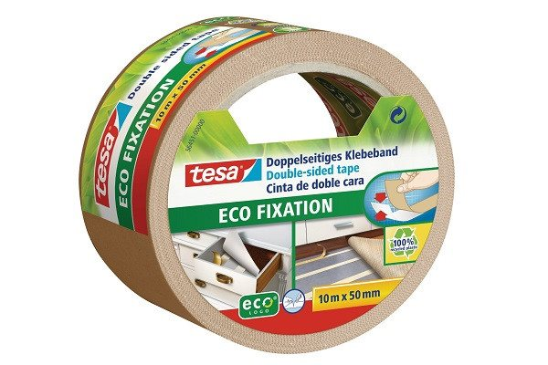 tesa Carpet Tape Double-Sided / Ecological / Solvent-free /10 M x 50 MM - SustainTheFuture - 1