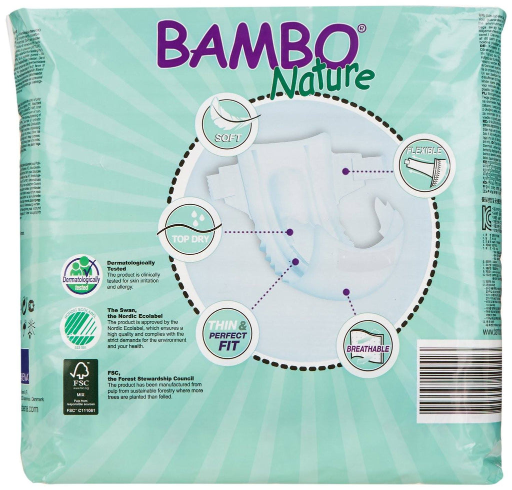 Abena Maxi Bambo Nature Baby Nappies weighing 7-18kg - Pack of 30 - Environmentally friendly - SustainTheFuture - 2