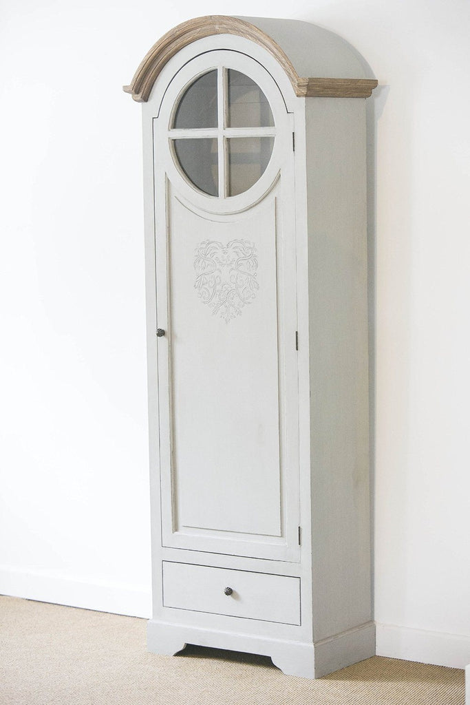 French Style Tall Heart Freestanding Cupboard with intricate heart motif and ins - SustainTheFuture - 7