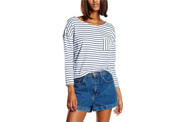 People Tree Women's Elba stripe top Long Sleeve Tops -  100% Cotton Machine wash - SustainTheFuture - 1